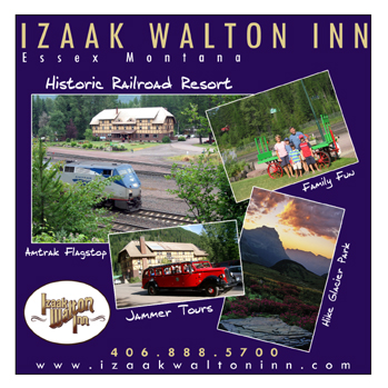 Stay at the Izaak Walton Inn! Located in Essex Montana. Bordering Glacier National Park!